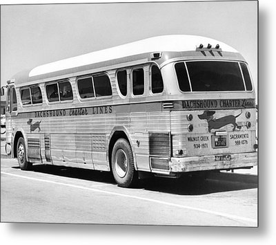 Dachshound Charter Bus Line Metal Print by Underwood Archives