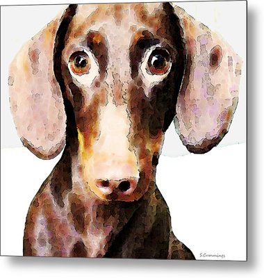 Dachshund Art - Roxie Doxie Metal Print by Sharon Cummings