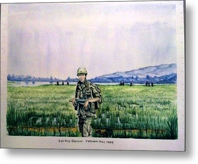 Dad In Viet Nam Sold Metal Print by Richard Benson