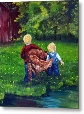 Daddy's Boys Metal Print by Meaghan Troup