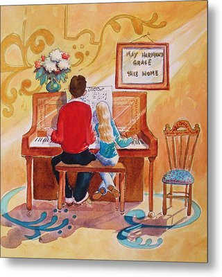 Daddy's Little Girl Metal Print by Marilyn Jacobson