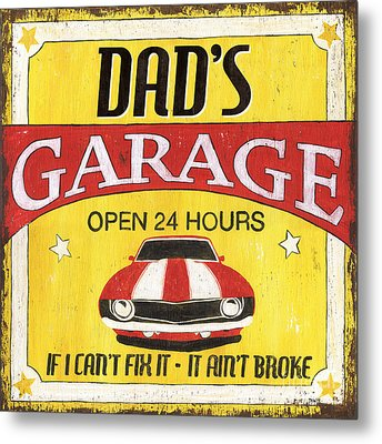 Dad's Garage Metal Print