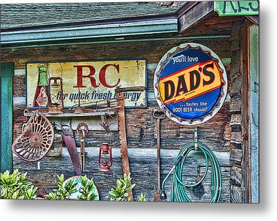 Metal Print featuring the photograph Dad's by Kenny Francis