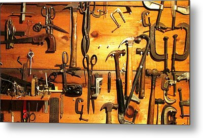 Dads Tools 3 Metal Print by Will Boutin Photos