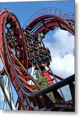 Daemonen - The Demon Rollercoaster - Tivoli Gardens - Copenhagen Metal Print
