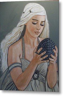 Daenerys Dragon Queen Metal Print by Tammy Rekito