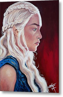 Daenerys Targaryen Metal Print by Tom Carlton