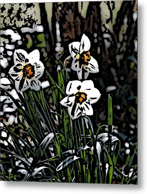 Metal Print featuring the digital art Daffodil by David Lane
