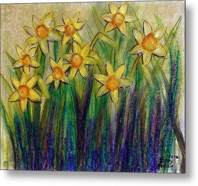 Daffodils Metal Print by Kenny Henson