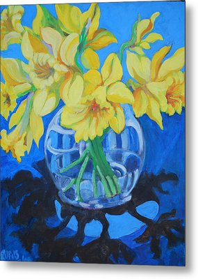 Daffodils Metal Print by Rufus Norman