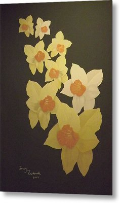 Daffodils Metal Print by Terry Frederick