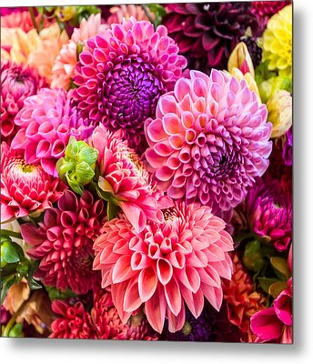 Dahlia Bouquet Number 2 Metal Print