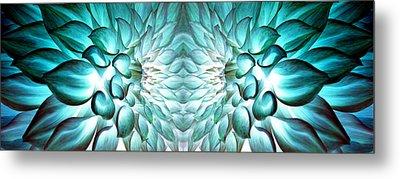 Dahlia Flower Art Metal Print by Sumit Mehndiratta