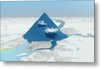 Daily Global Co2 Emissions Metal Print