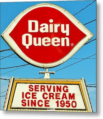 Dairy Queen Sign Metal Print by Cynthia Guinn
