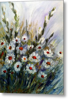 Daisies Metal Print by Dorothy Maier
