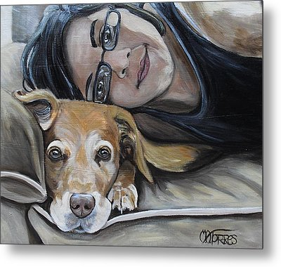 Daisy And Melissa Metal Print