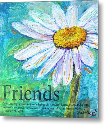 Daisy Friends Metal Print