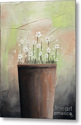 Daisy In Pot2 Metal Print