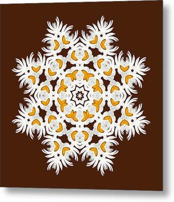 Daisy Mandala  12t Metal Print