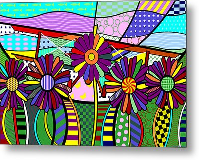 Metal Print featuring the digital art Daisy Plane by Randall Henrie