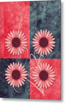 Daisy Quatro V13b Metal Print by Variance Collections