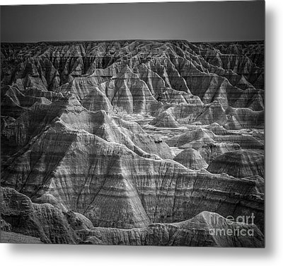 Dakota Badlands Metal Print by Perry Webster