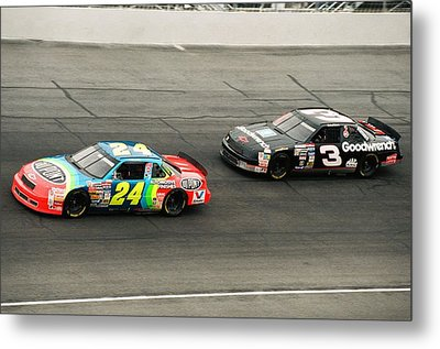 Jeff Gordon And Dale Earnhardt Metal Print