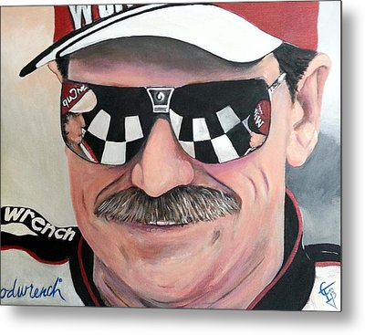 Dale Earnhardt Sr Metal Print by Tom Carlton