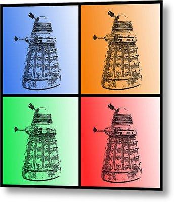 Dalek Pop Art Metal Print