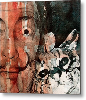 Dali And His Cat Metal Print