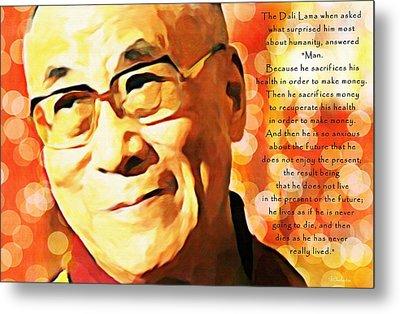 Dali Lama And Man Metal Print