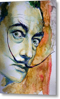 Metal Print featuring the painting Dali by Laur Iduc