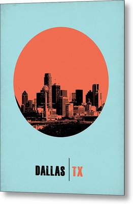 Dallas Circle Poster 1 Metal Print by Naxart Studio