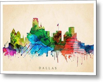 Dallas Cityscape Metal Print