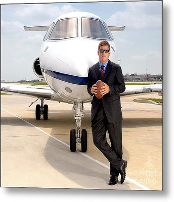 Dallas Cowboys Superbowl Quarterback Troy Aikman Metal Print by David Perry Lawrence