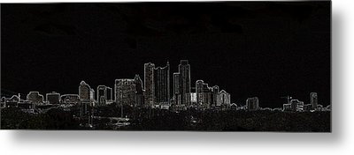 Metal Print featuring the photograph Dallas Glow Skyline by Ellen O'Reilly