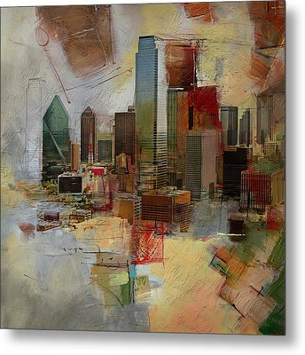 Dallas Skyline 003 Metal Print