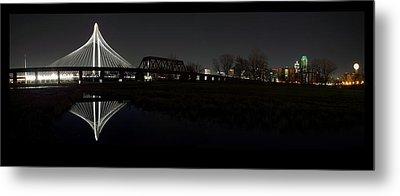 Dallas Skyline Hunt Bridge Color Metal Print