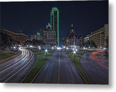 Dallas West End At Night Metal Print