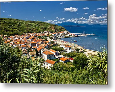 Dalmatian Island Of Susak Village And Harbor Metal Print