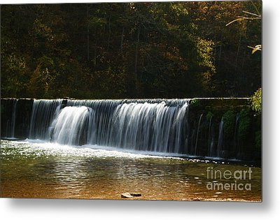Metal Print featuring the photograph Dam Falls At Rockbridge by Julie Clements