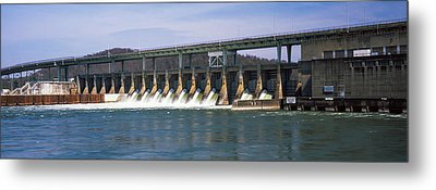 Dam On A River, Chickamauga Dam Metal Print by Panoramic Images