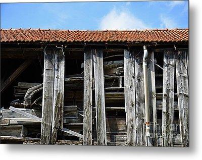Damaged Old Wooden Building Metal Print by Sami Sarkis