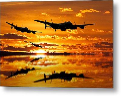 Dambusters Avro Lancaster Bombers Metal Print
