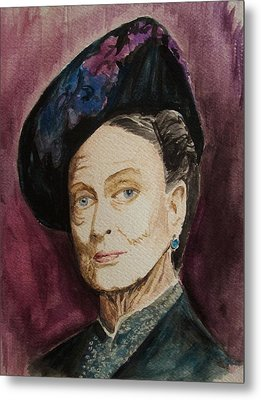 Dame Maggie Smith Metal Print by Amber Stanford