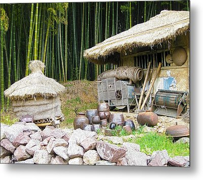 Damyang Bamboo Forests Metal Print by Lanjee Chee