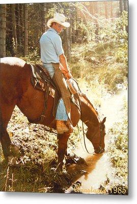 Dan Fogelberg Scenes From A Western Romance I Metal Print by Anastasia Savage Ealy