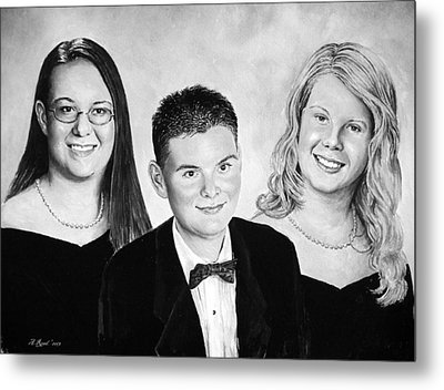 Dana And Curtis And Viktoria Metal Print by Andrew Read