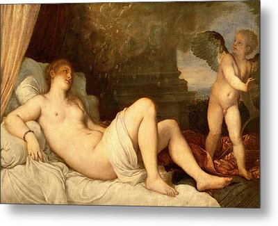Danae Metal Print by Titian